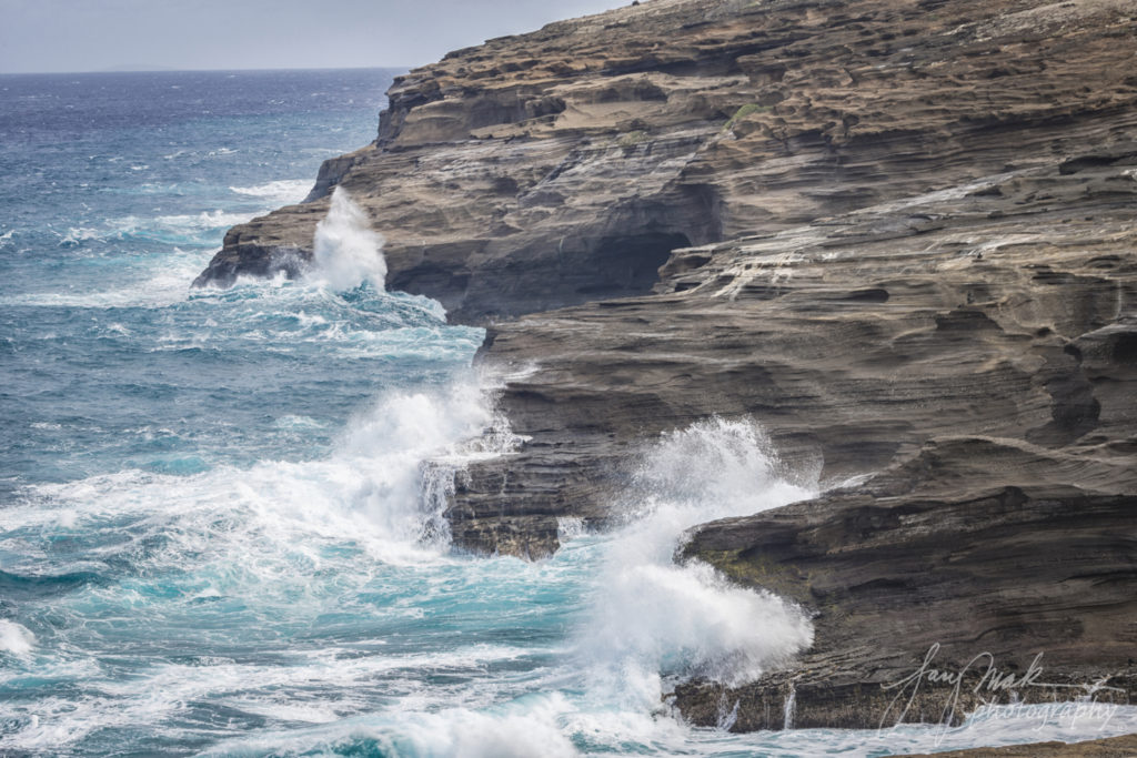Oahu Three Fingers by Blowhole