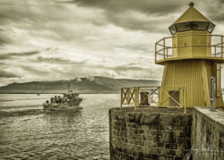 Boat and Lighthouse (Harpa Iceland 2019)