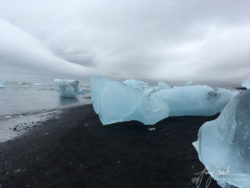 Iceland Icebergs at Diamond Beach (Breidamerikursandur) at Low Tide (2019)