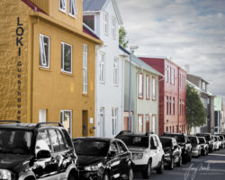 Reykjavïk Cars Parked on a Street (2019)